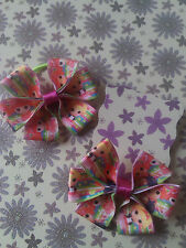 "handmade 3"" mickey mouse,barbie,frozen all Disney ribbon hair triple bows *look*"