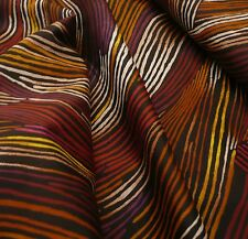 Thumb Print 100% woven cotton african ethnic red black lines - by the yard or M
