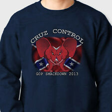 GOP Smackdown 2013 Cruz Control T-shirt Obama GOP Budget Crew Neck Sweatshirt