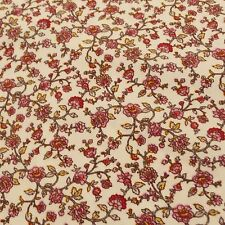Cream Floral woven cotton ditsy print - fat quarter, 50cm , by the yard or M