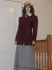 Early 1900's - Edwardian  - Suffragette style outfit (Burgundy/Grey)