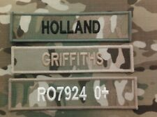 Official Name Tapes (Multicam MTP name tapes (x3) for MTP issue uniform)