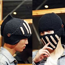 Cool Womens Men Knit Winter Warm Ski Beanie Wool Roman Knight Helmet Hat Cap