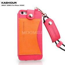 HOT Available Colors Leather Cover Case W/Card Slot Skin For Apple iPhone 5/5S
