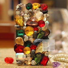 Mix Color Crystal Bling Rhinestone Gems Hard Skin Case Cover For Nokia iPhone