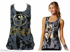 BNWT Zumba Authentic Love Me Or Loose Me Tank vest top Eat Grey Love
