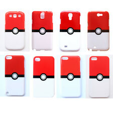 Pokeball Pokemon Pikachu Pattern Hard Case Cover For Apple iPhone Samsung Galaxy