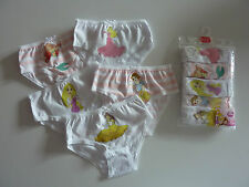 DISNEY Princess 5 Pack Knickers / Briefs Age 2-3 Years NWT