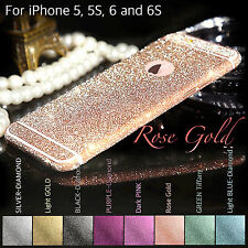 Glitter Bling Color Bumper Side Body Button Sticker Skin For iPhone 4 5 5S