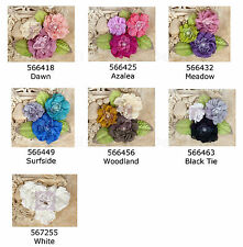 Prima * PAQUITA * FABRIC FLOWERS WITH PEARL CENTERS * VINTAGE *
