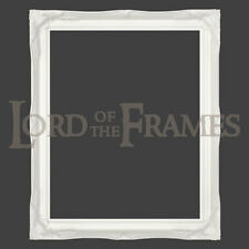 """2"""" White Shabby Chic Decorative Ornate Wood Picture Frame CHOOSE SIZE & OPTIONS"""