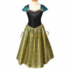 Halloween Kids Girls Costume Cosplay Party Princess Frozen Anna Fancy Dress Up