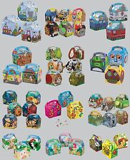 5 PARTY (Food/Lunch) BOXES - Range of Themes/Occasions/Patterns{Birthday/Card}