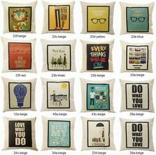 "New 18"" Vintage Throw Pillow Cases Home Decor Sofa Cushion Cover Linen"
