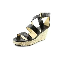 Amalfi By Rangoni Parella Womens Leather Wedge Sandals Shoes