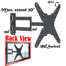 Universal TILT SWIVEL ARTICULATING CORNER TV WALL MOUNT BRACKET 37 39 42 46 inch