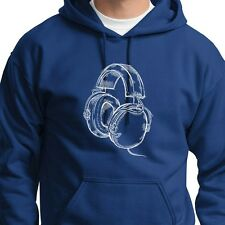HEADPHONES Cool DJ Rave Party T-shirt Beats Hip Hop Band Music Hoodie Sweatshirt