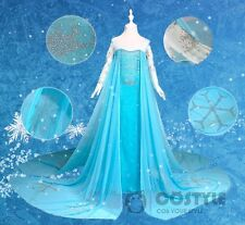 New Children's Disney Animation Frozen Snow Queen Princess Elsa's dress
