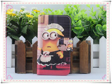 2014HOT Colourful Funny lovely Despicable me PU LEATHER FLIP Case COVER for HTC