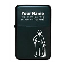 Personalised Star Oil Lighter - Windproof / Laser Marked - Silent Comedy Design
