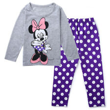 Baby Girl Kids Children Clothing Top+Pants Pajama Sleepwear Homewear Minnie Set