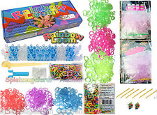 Original Rainbow Loom Starter Set UV Farbwechsel, Rubber Pearl Looms Ringe MIX
