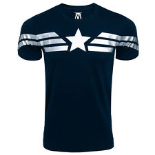 Men T- Shirt Captain America Super Soldier Uniform Winter Soldier Avenger Union
