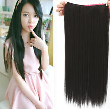 """New Women Hair Extensions Wavy Curly/Straight Synthetic Clip in on 23"""" 17"""""""