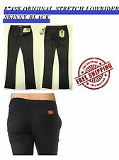 NWT DICKIES GIRLS HH874SK BLACK ORIGINAL STRETCH LOWRIDER SKINNY PANTS PANT
