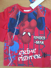 Superbe Tee shirt SPIDERMAN longues manches 3, 4, 6, 8 ans rouge  Marvel