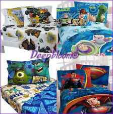 KIDS BOYS BED ROOM SHEET SET 3 PC TWIN CARS MONSTER JAM DISNEY SUPERMAN NEW