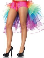 Burlesque Rainbow Bustle Layered Petticoat Skirt or Multi Layered Mini Tutu
