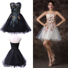 Bling~Peacock Short Homecoming Dress Masquerade Prom Party Cocktail Club Dresses