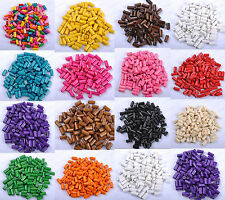 Wholesale 50pcs Bright Color Wooden tubular Wood Beads 12X6MM 14 Colours