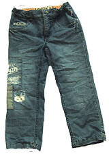 Pampolina PL.05/Check in Jeanshose dark blue denim Used-Look  Baumwollmischung