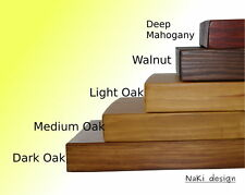 CHUNKY WOODEN FLOATING SHELF 22 cm deep x 4 cm thick CHOICE OF COLOURS HANDMADE