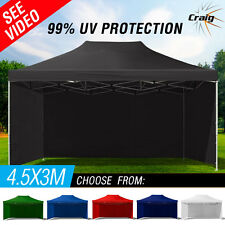 NEW CRAIG 3x4.5m Outdoor Gazebo - Folding Marquee Tent Canopy Pop Up Party