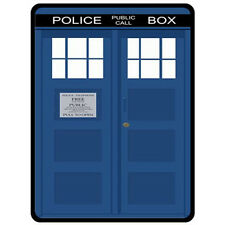 New Dr. Who TARDIS Blue Police Call Box  Poster on Fleece Blanket S M XL Limited