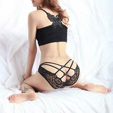 Sexy Women Lace See Through Bandage Panty Panties Knickers Thongs Briefs Tangas