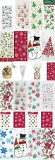Christmas Party Loot Cello Gift Sweet Cellophane Treat Bag Snowflake Santa Tree
