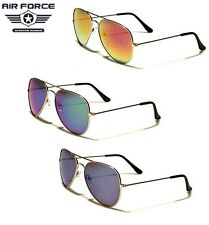Air Force Aviator Sunglasses - Revo Mirror Lens / Gold Frame - FREE POSTAGE AUS