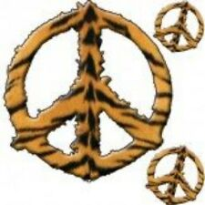 NEW HIPPY SAFARI DESIGN TSHIRT - Tiger inspired peace sign - african wildlife