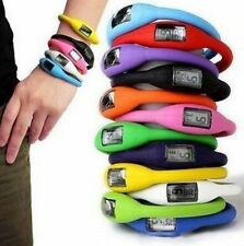 11 Color Watch Silicone Ion Jelly Rubber Bracelet Wrist Sports Watch Wholesale