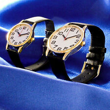 Large Print Watch Mens Woman Big Number Numeral Easy Read Low Vision Large Face