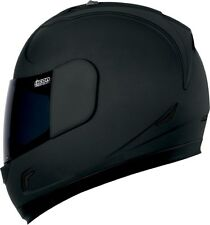 ICON ALLIANCE DARK MATTE BLACK MOTORCYCLE HELMET STREET SMOKE & CLEAR SHIELD DOT