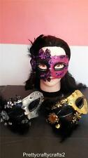 SEQUIN LACE FEATHER GLITTER MASQUERADE DRESS UP PARTY BALL EYE MASK