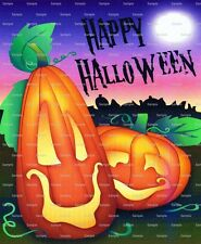 Happy Halloween ~ Frosting Sheet Cake Topper ~ Edible Image ~ D2227