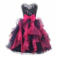 Organza Wedding Prom Dance Cocktail Quinceanera Homecoming Evening TUTU Dress
