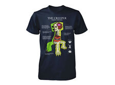 Minecraft Creeper Anatomy Licensed Youth Kids T-Shirt - Navy Blue