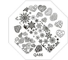 Cute QA61-98 series Stamping Metal Plate with free gift of scraper&stamper